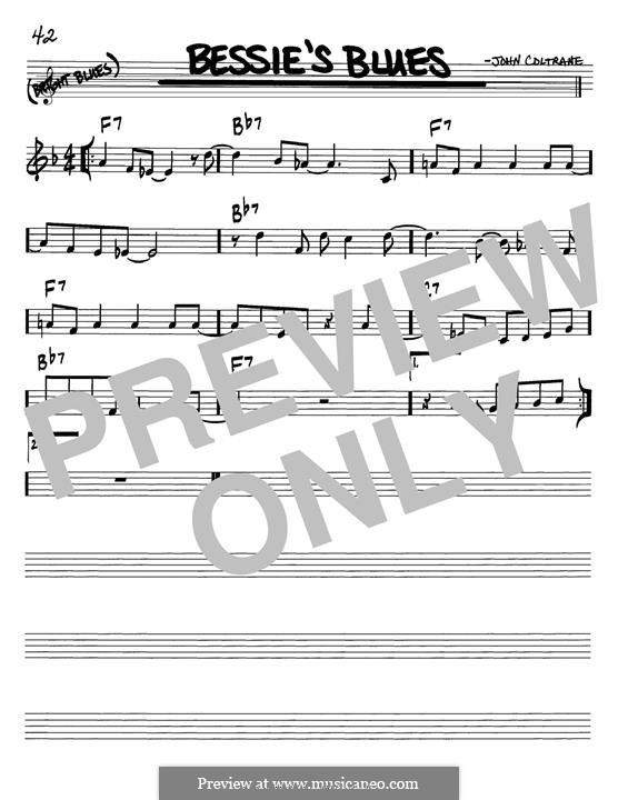 Bessie's Blues: Melody line by John Coltrane