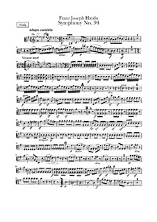 Symphony No.94 in G Major 'The Surprise', Hob.I/94: Viola part by Joseph Haydn