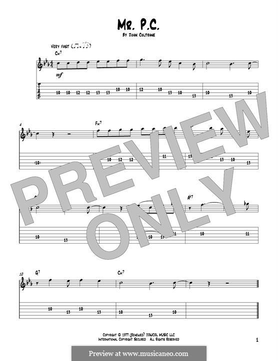 Mr. P.C.: For guitar by John Coltrane