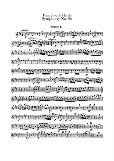 Symphony No.96 in D Major 'The Miracle', Hob.I/96: Oboes parts by Joseph Haydn