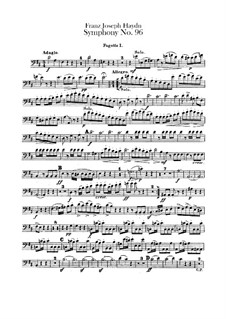 Symphony No.96 in D Major 'The Miracle', Hob.I/96: Bassoons parts by Joseph Haydn