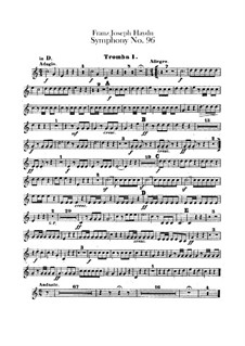 Symphony No.96 in D Major 'The Miracle', Hob.I/96: Trumpets parts by Joseph Haydn