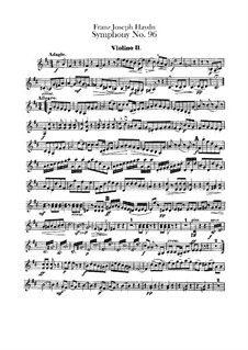 Symphony No.96 in D Major 'The Miracle', Hob.I/96: Violin II part by Joseph Haydn