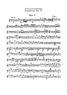 Symphony No.97 in C Major, Hob.I/97: Oboes parts by Joseph Haydn