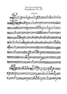 Symphony No.99 in E Flat Major, Hob.I/99: Timpani part by Joseph Haydn