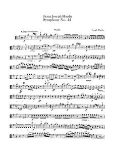 Symphony No.44 in E Minor 'Mourning', Hob.I/44: Viola part by Joseph Haydn