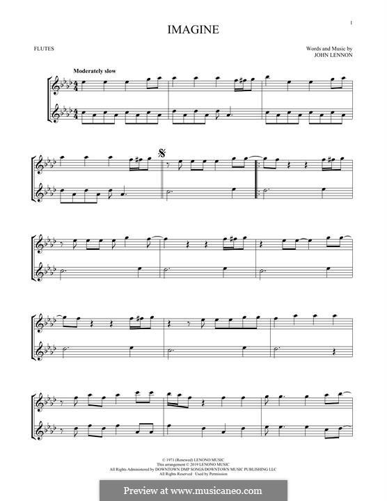 Imagine: For flute by John Lennon