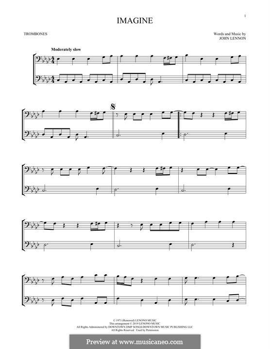Imagine: For trombone by John Lennon
