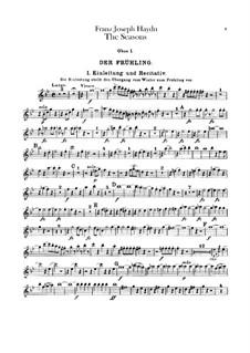 The Seasons, Hob.XXI/3: Oboes parts by Joseph Haydn