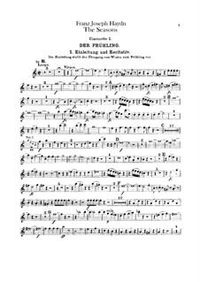 The Seasons, Hob.XXI/3: Clarinets parts by Joseph Haydn