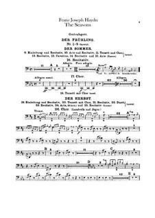 The Seasons, Hob.XXI/3: Contrabassoon part by Joseph Haydn