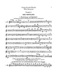 The Seasons, Hob.XXI/3: Trumpets parts by Joseph Haydn