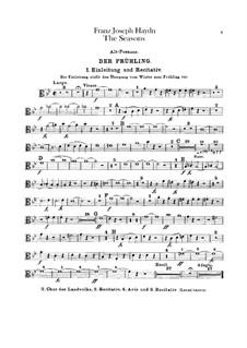 The Seasons, Hob.XXI/3: Trombones parts by Joseph Haydn
