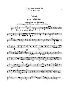 The Seasons, Hob.XXI/3: Violin I part by Joseph Haydn