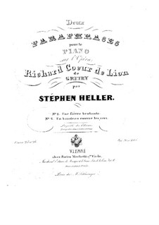 Impromptu on Theme from 'Richard Coeur de Lion' by A. Gretry, Op.26: For piano by Stephen Heller
