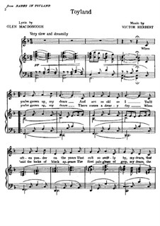Babes in Toyland: Toyland, for voice and piano by Victor Herbert