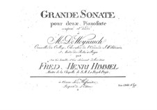 Grand Sonata for Two Pianos Four Hands: Piano I part by Friedrich Himmel