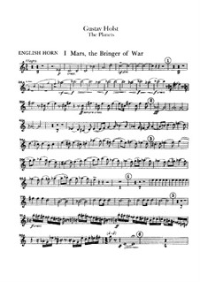 Complete Suite: Cor anglais part by Gustav Holst