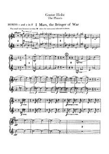 Complete Suite: Horns I-II part by Gustav Holst