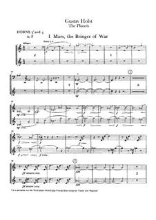 Complete Suite: Horns III-IV part by Gustav Holst