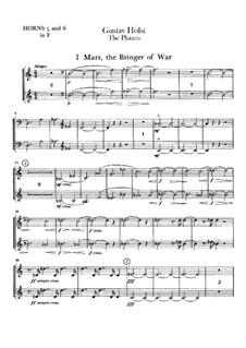 Complete Suite: Horns V-VI parts by Gustav Holst