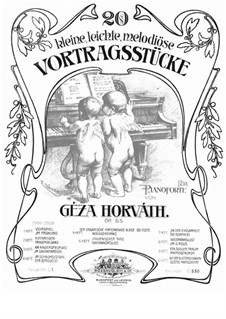 Twenty Short Pieces, Op.53: For piano by Géza Horváth