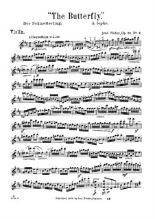 The Flower's Tale for Violin and Piano, Op.30: No.3 Butterfly – solo part by Jenö Hubay