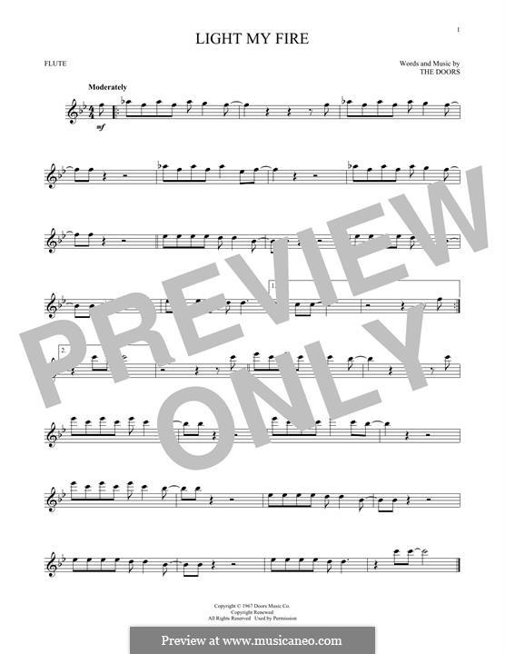 Light My Fire: For flute by Jim Morrison, John Densmore, Ray Manzarek, Robert Krieger, The Doors