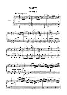 Sonata for Piano in G Minor: Sonata for Piano in G Minor by Jan Ladislav Dussek