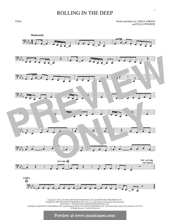 Vocal-instrumental version: For tuba by Adele, Paul Epworth