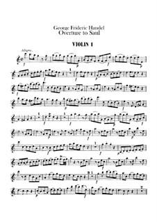 Saul, HWV 53: Overture – Violins Parts by Georg Friedrich Händel