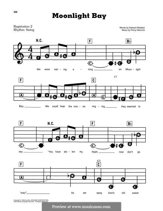 Moonlight Bay: For easy piano by Percy Wenrich
