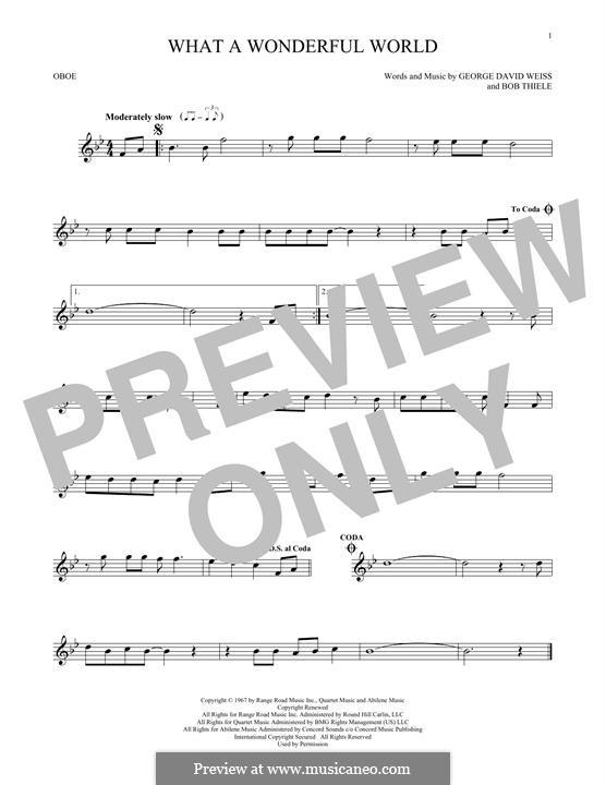 What a Wonderful World: For oboe by Bob Thiele, George David Weiss