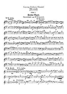Complete Oratorio: Oboes parts by Georg Friedrich Händel