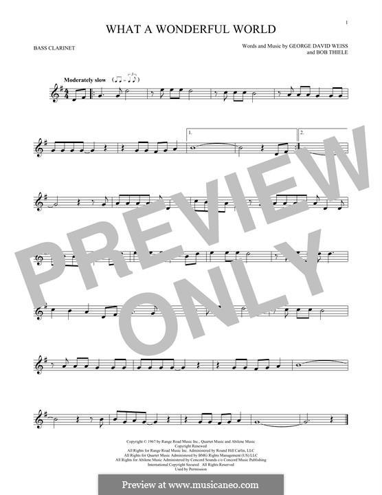 What a Wonderful World: Bass clarinet by Bob Thiele, George David Weiss