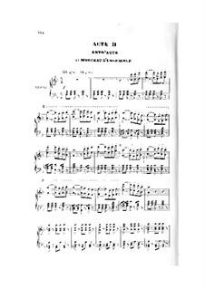 La circassienne: Act II, piano-vocal score by Daniel Auber