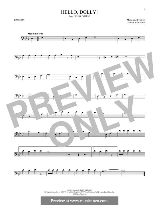 Hello Dolly (Louis Armstrong): For bassoon by Jerry Herman