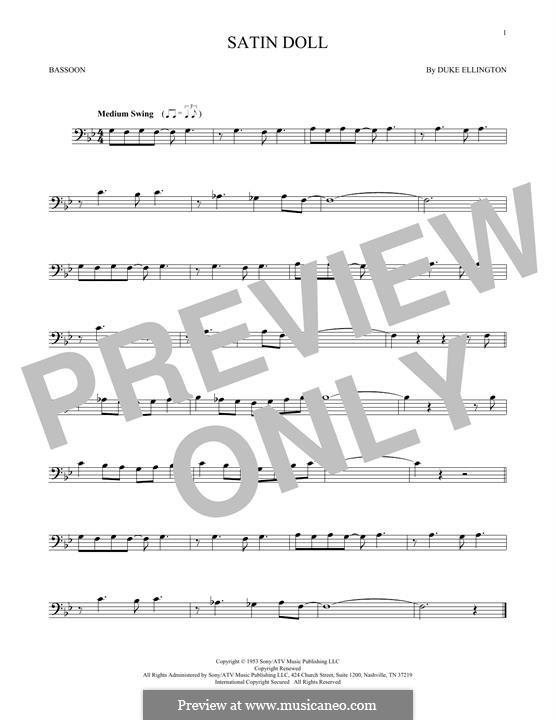 Satin Doll: For bassoon by Billy Strayhorn, Duke Ellington