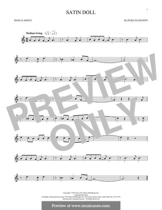 Satin Doll: Bass clarinet by Billy Strayhorn, Duke Ellington