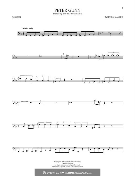 Vocal-instrumental version: For bassoon by Henry Mancini