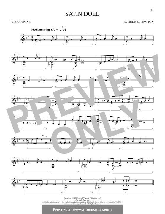 Satin Doll: For vibraphone by Billy Strayhorn, Duke Ellington