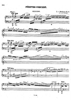 Fragments: Movement I. Version for piano four hands by Ludwig van Beethoven