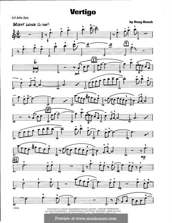 Vertigo: 1st Eb Alto Saxophone part by Doug Beach