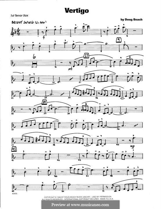 Vertigo: 1st Tenor Saxophone part by Doug Beach