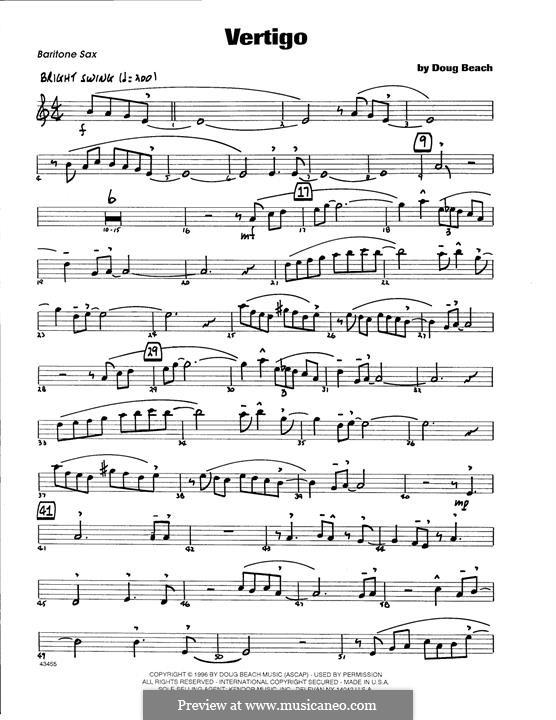 Vertigo: Eb Baritone Saxophone part by Doug Beach