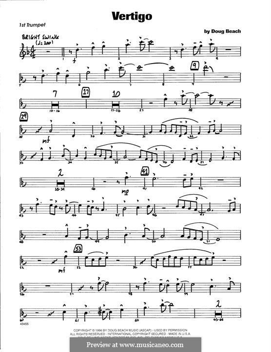 Vertigo: 1st Bb Trumpet part by Doug Beach