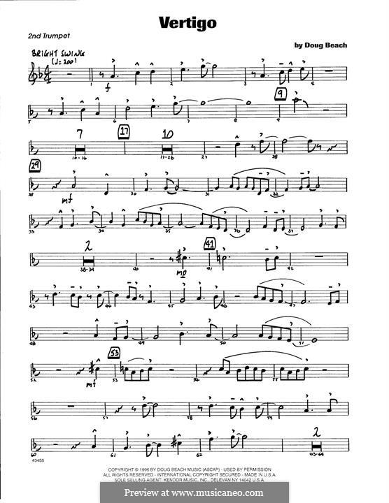 Vertigo: 2nd Bb Trumpet part by Doug Beach