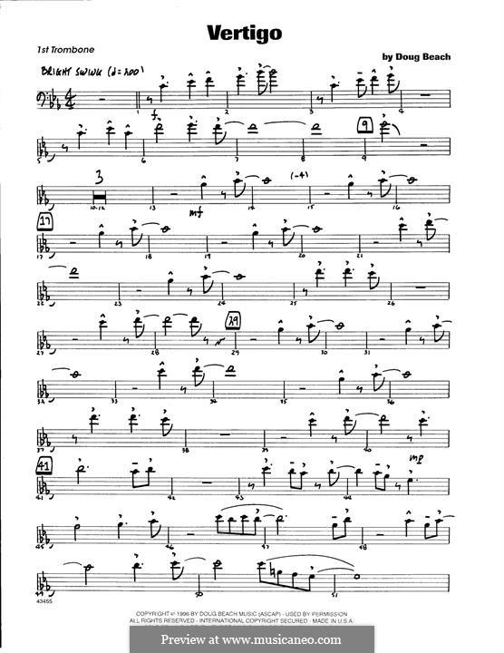 Vertigo: 1st Trombone part by Doug Beach