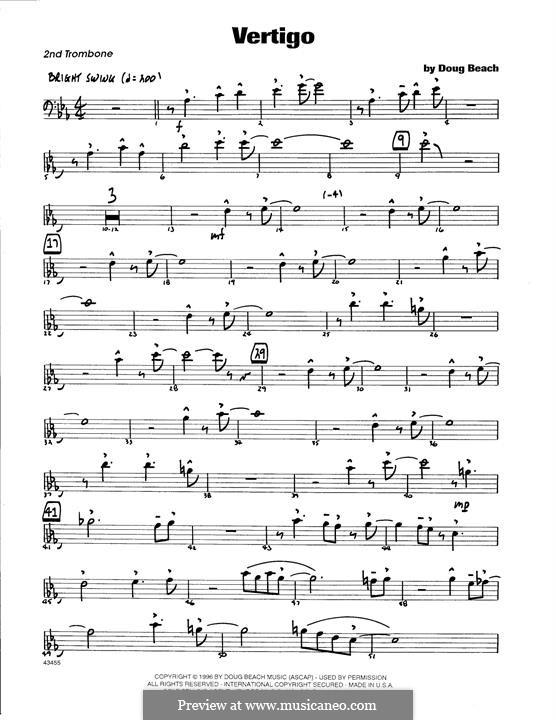 Vertigo: 2nd Trombone part by Doug Beach