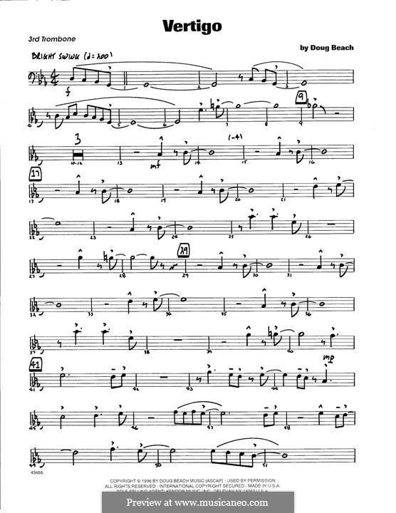 Vertigo: 3rd Trombone part by Doug Beach